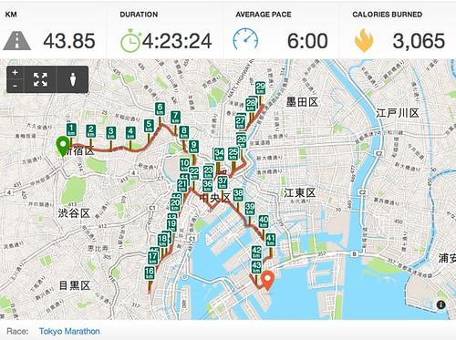2014東京マラソン RunKeeper