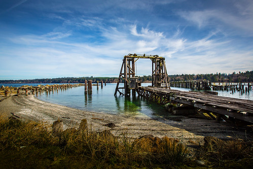 abandoned reflections dock waterfront piers derelict deteriorated portgamble kitsapcounty explored