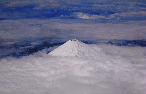 Mt. Fuji above cloud