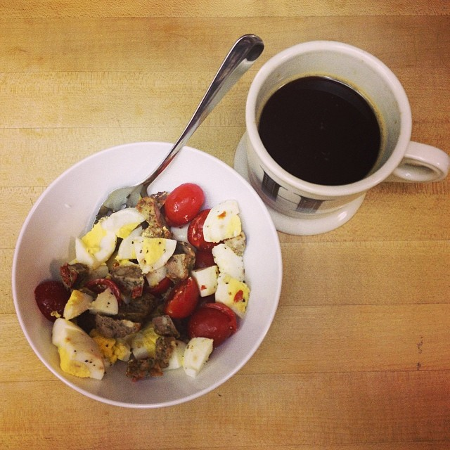 Because I'm a crazy person, I'm starting a #whole30 today. Heeeeeeere's brekkie!