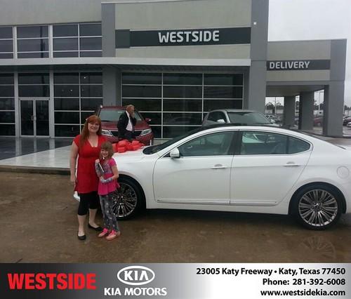 Congratulations to Cynthia Thomas on your #Kia #Cadenza purchase from Rubel Chowdhury at Westside Kia! #NewCar by Westside KIA