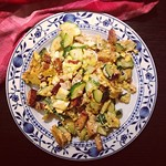rührei mit tofu und zucchini