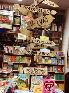 "{Latergram} Of course, as only book nerds would do, Andrea and I had bookstores on our list of ""must go to."" Top of the list: Charlie Byrne's Bookshop in Galway. It's considered one of the best bookstores in Ireland, and I could see why. Extra fabulous se"