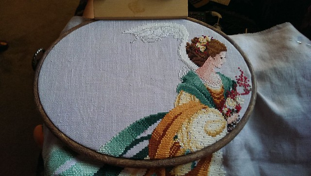 Catching up on a little cross stitch