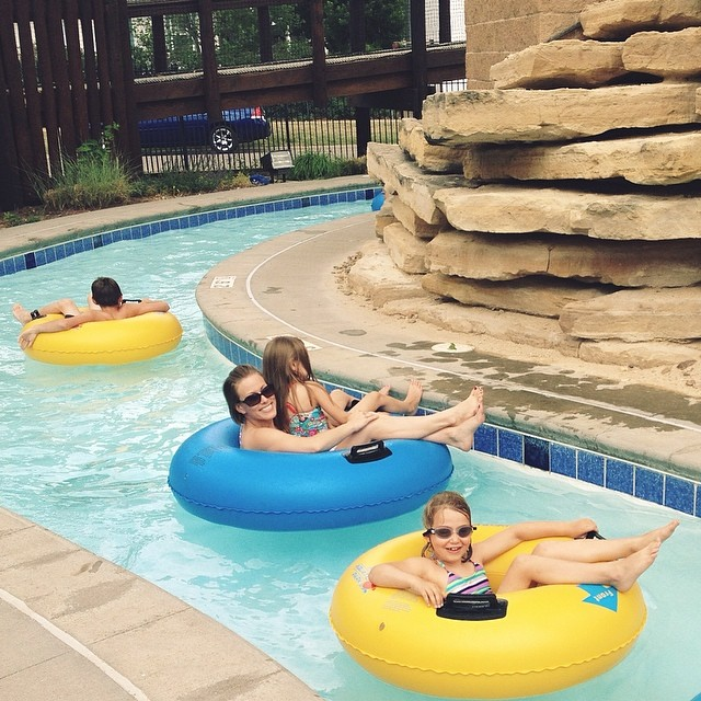 "I am mostly posting this because a lifeguard yelled ""No photos!"" when she saw me taking it and I think that's straight up dumb. Rebel without a cause over here ✌️ #summer #pool #rebel #lazyriver #fun #friends #cantkeepmedown"