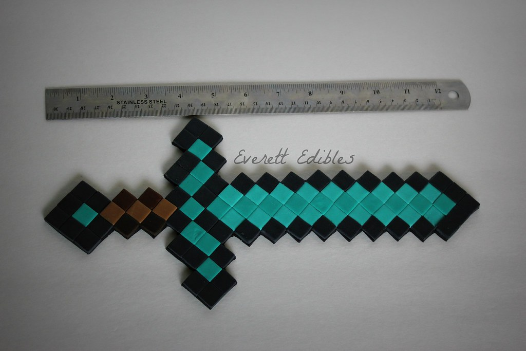 Minecraft Diamond Sword Cake