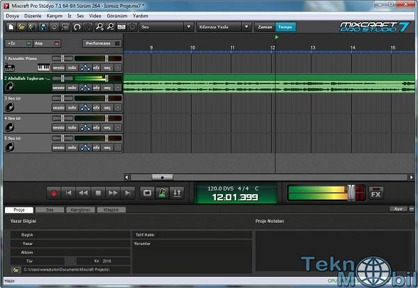 Mixcraft Pro Studio Full v7.7.311 Türkçe