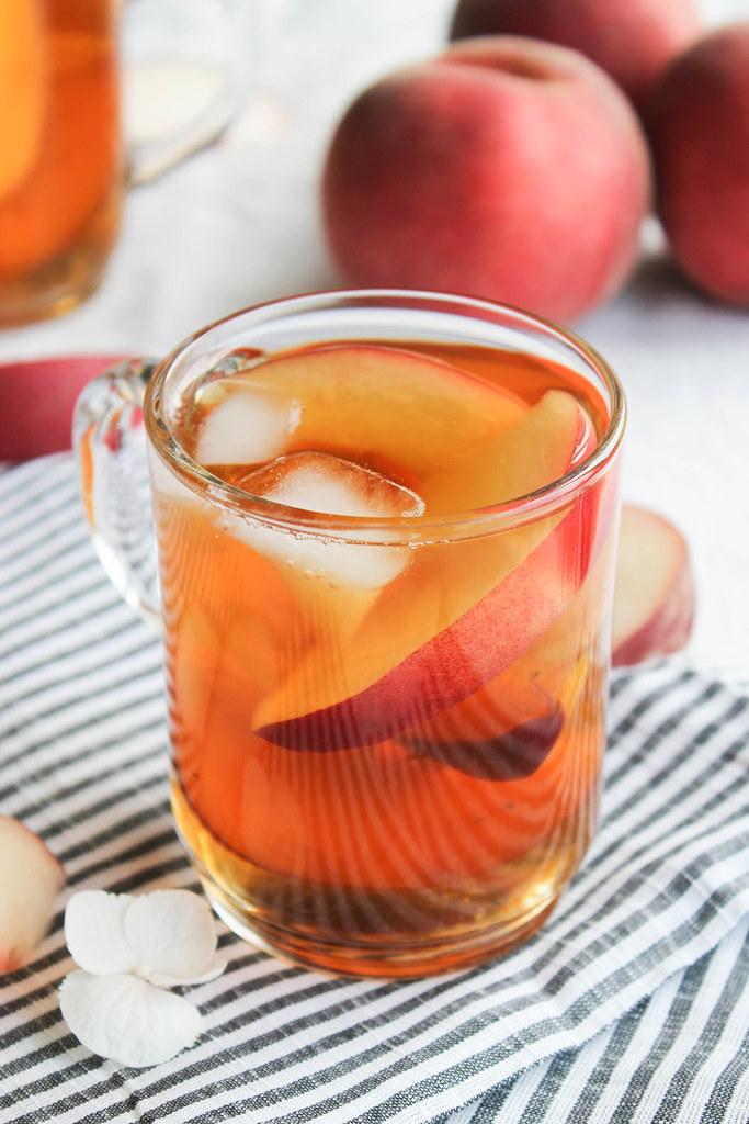 Recette de thé glacé pêche