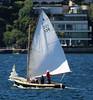 'Yeromais' 6.8m gaff rigged wooden sailboat