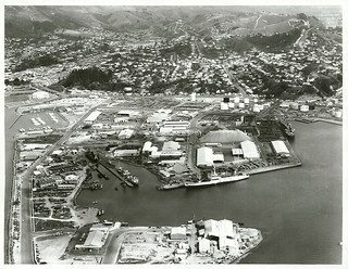 Aerial view of Nelson City and Port