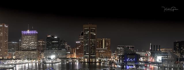 Baltimore Harbor at 2:00 AM