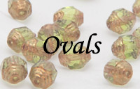 Fire Polished Ovals