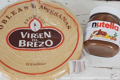 Tarta de obleas y nutella www.cocinandoentreolivos (1)