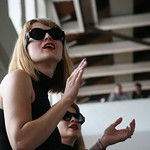 Sat, 22/06/2013 - 4:13pm - New York City's Lucius performs under the giant Phoenix at MASS MoCA. Photo by Laura Fedele
