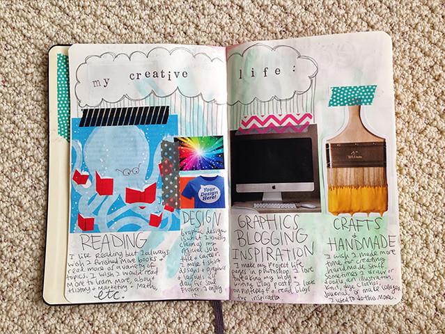 spread 3 - my creative life