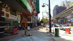 Footpath under construction, Bukit Bintang, Kuala Lumpur