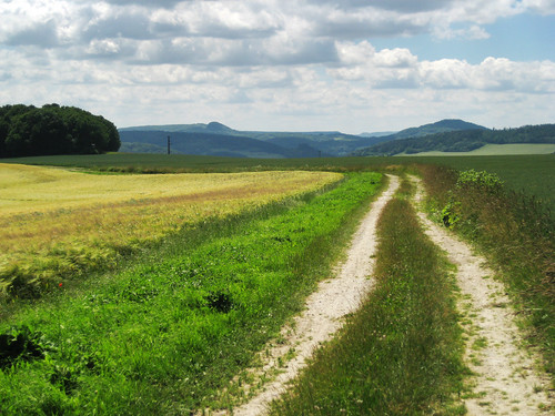 deutschland thüringen camino natur felder berge deu jakobsweg wege landschaften lehna schimberg
