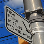 Push button to cross Watchung Avenue