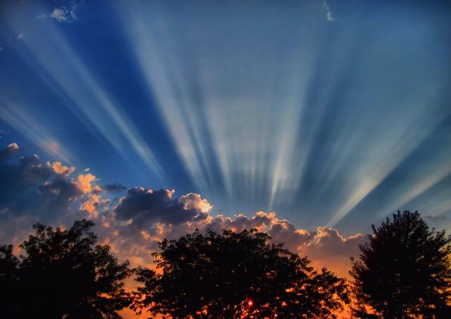 Batavia Sunset HDR 20130907