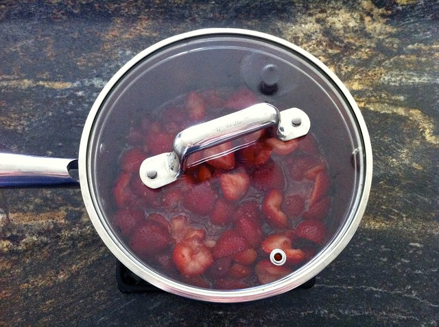 Berries Cooking in Covered Saucepan