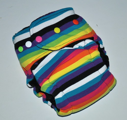 Bumstoppers One Size Hybird Fitted Rainbow Jail Cotton Velour