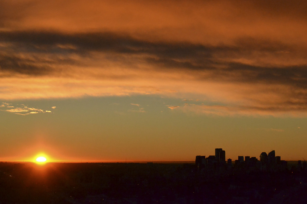 Sunrise in Calgary.