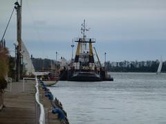 Big tugboat moored in the Eastern Gap, 2013 10 05 (2)