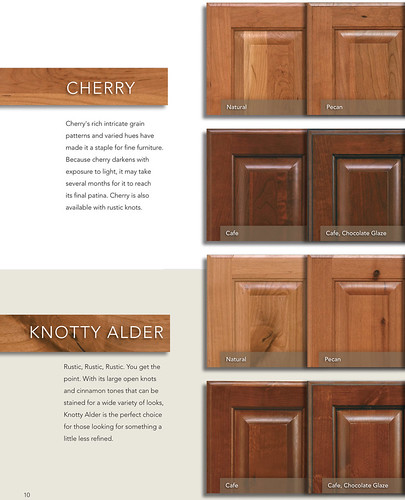 Phoenix Kitchen Cabinets in Cherry, Knotty Alder