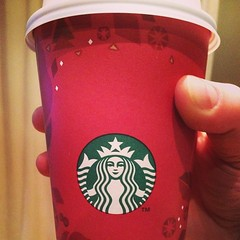 Starbucks holiday cups are here. It's the small things thy can make me happy.