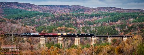 railroad trestle bridge fall train georgia fallcolors week45 toccoa stephenscounty thesussman northbroadtrestle wellsviaduct viadiuct themelandscape sonyalphadslra550 sussmanimaging 52in2013