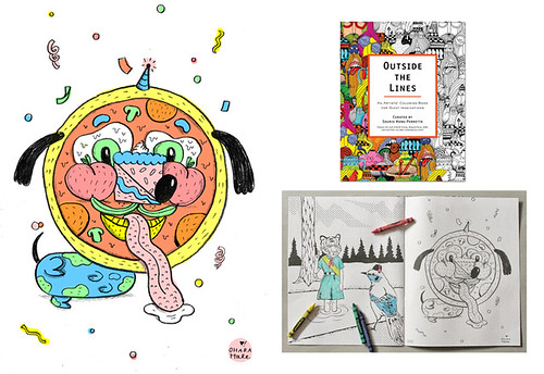 PIZZA FACE OUTSIDE THE LINES COLORING BOOK
