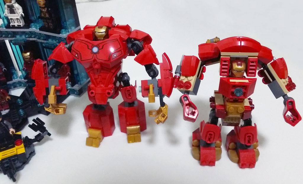 Lego iron man 3 hulkbuster blue moc iron man hall of armor mk ii