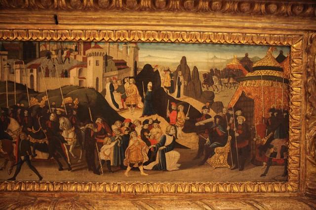 Biagio di Antonio, Jacopo del Sellaio, and Zanobi di Domenico - Morelli-Nerli Cassone R (1472) - frontal panel - detail 2