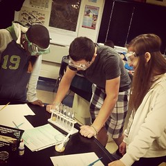 Analyzing chemical reactions in Living Environment. #trojansmart