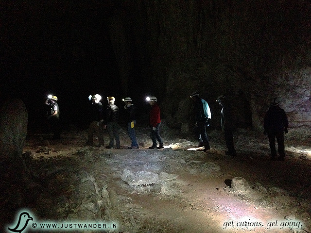 PIC: Enjoying the 3 hour Lower Cave Tour at Carlsbad Caverns National Park - small group with headlamps and gloves ready to explore
