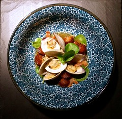Littleneck Clams with Bacon Dashi