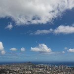 Diamond Head crator and Honolulu