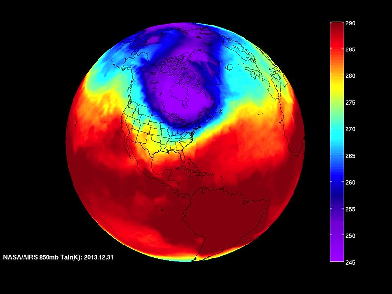 NASA's AIRS Sees Polar Vortex Behind U.S. Big Chill