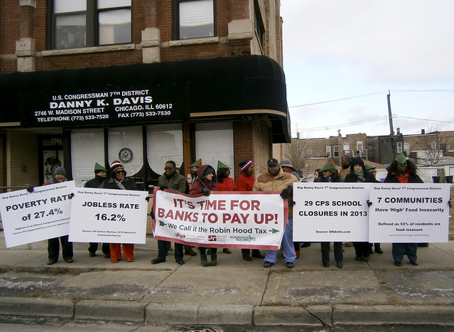 RHT supporters rally at Danny Davis' office in Chicago