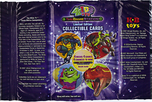 4KIDS TV - 'THE GAME STATION' :: K•B TOYS EXCLUSICE,LIMITED EDITION COLLECTIBLE CARDS // ..wrapper (( 2007 ))