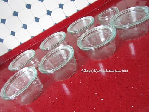 ©Gläser für Schokoladen-Olivenölkuchen