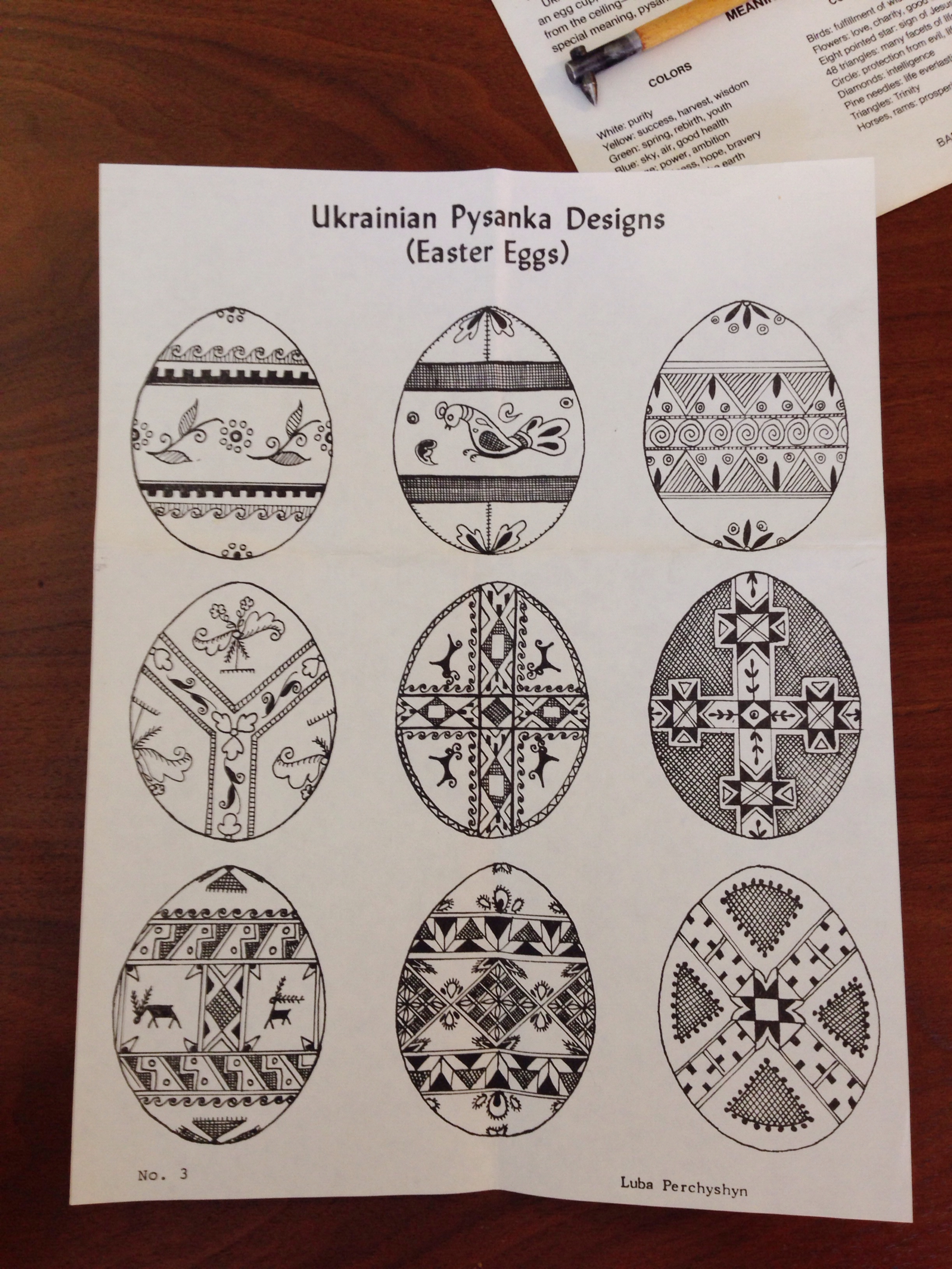 vintage ukranian egg decorations
