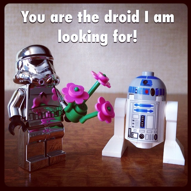 Geek Valentine: You are the droid I am looking for. #geek #love #lego #nerd #valentine #starwars