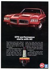 1972 AC Spark Plug Advertisement (GTO) Hot Rod January 1972