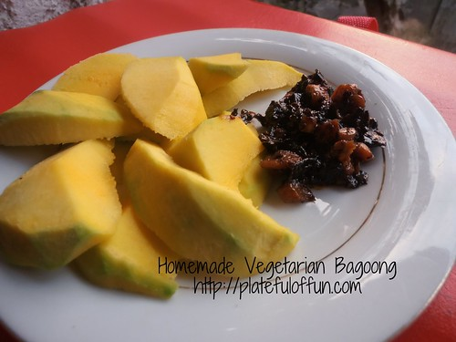 Homemade vegetarian bagoong