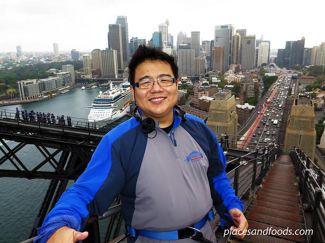 sydney harbour bridge climb CBD view