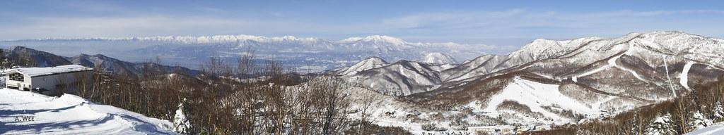 Panorama of Shiga Kogen 志賀高原