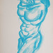 """Minotauro!?""./""Minotaur!?"". Pastel sobre papel/Pastel on paper, 2002."