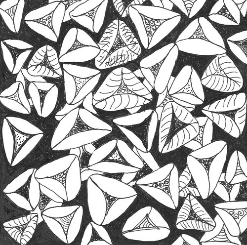 Composition with Hamentashen (Pen and Ink Exercise) by randubnick