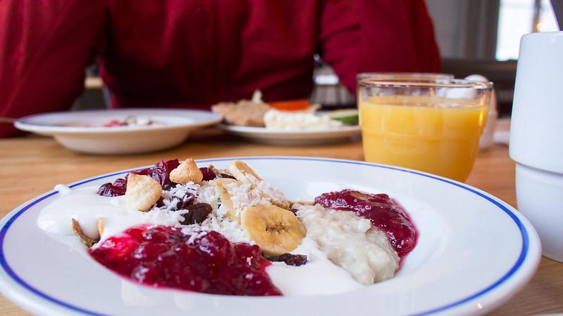Frühstück in der Fjällstation